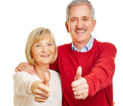 couple doing thumbs up