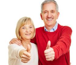couple doing thumbs up